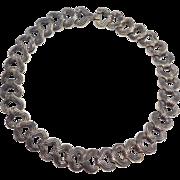 Early Los Castillo Mexican Silver Necklace Taxco