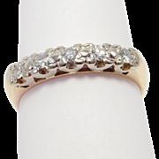 Art Deco 14K Five Stone Diamond Band .25 Carat
