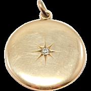 RESERVED DO NOT PURCHASE-10K Rose Gold Victorian Locket Mine Cut Diamond