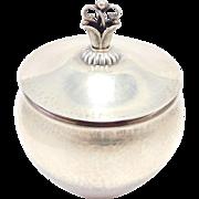 Early Mark Georg Jensen Danish Sugar Bowl Sterling
