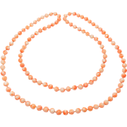 Long Strand 6mm Salmon Coral Antique Beads