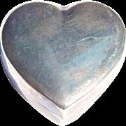 Vintage Tiffany & Co. Sterling Heart Trinket Box