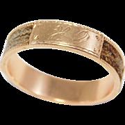 Georgian Memorial Rose Gold Hair Ring Band Woven