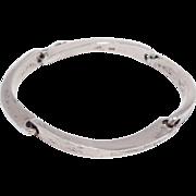 Modernist Sterling Bracelet By Gunn Trigere