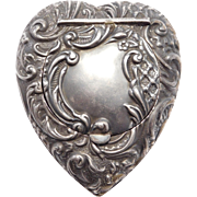 Sterling English Repousse Heart Box Victorian 1901 Hallmarked