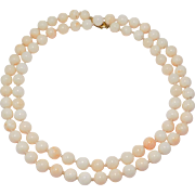 Beautiful 9mm Angelskin Coral Beads 32 Inches Long