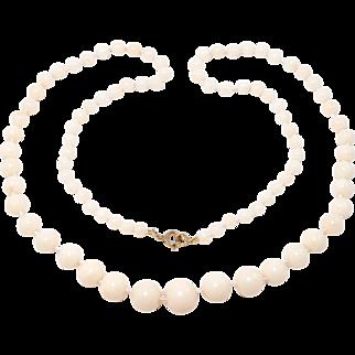 Elegant Graduated Strand Angelskin Coral Beads