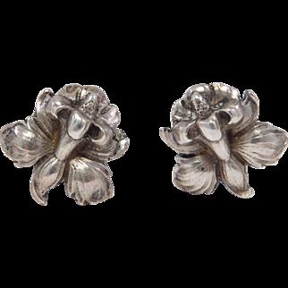 Sterling Cini Iris Earrings Clipon Lovely