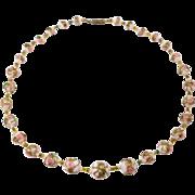Pretty Italian Wedding Cake Venetian Glass Beads Necklace