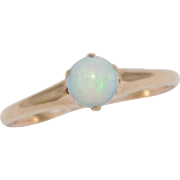 Victorian Rose Gold 10K Ring With Opal 1880'S