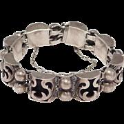 Vintage Victoria Taxco Shadowbox Bracelet Silver