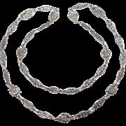 Ornate Old Italian Silver Figural Chain Devil Faces