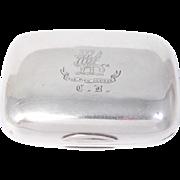 Gorham Sterling Silver Victorian Griffins Soap Box Case