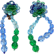 Gorgeous Coppola E Toppo Drop Crystal Earrings Italy