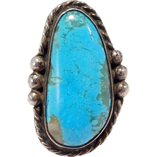 Royston Turquoise Sterling Ring Older Pawn