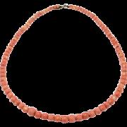 Pretty Strand Victorian Dark Salmon Coral Beads