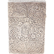 Antique Sterling Engraved Elegant Floral Matchsafe