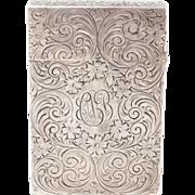 Antique Sterling Engraved Elegant Floral Matchsafe