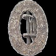 Art Nouveau Sterling Repousse Buckle Mint Condition