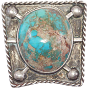 Older Turquoise & Silver Bolo Tie Southwest