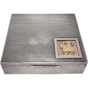 Very Unusual Sterling Humidor Or Cigarette Box Art Deco