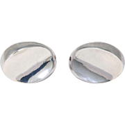 Modernist Antonio Pineda 970 Taxco Silver Cufflinks