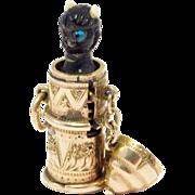 Victorian Rare 10K Gold Temperance Charm Carved Devil