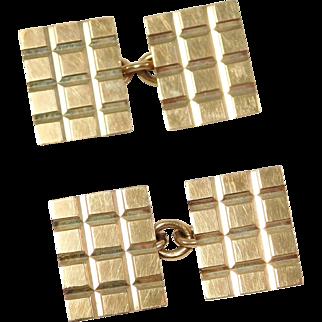 9ct Retro English Hallmarked Cufflinks