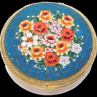 Pretty Vintage Large Micro Mosaic Italian Trinket Box