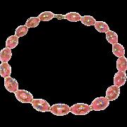 Beautiful Pink Wedding Cake Venetian Glass Beads Necklace