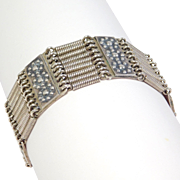 Unusual Sterling Silver Deco Machine Age Bracelet