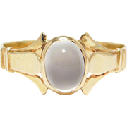 14K Victorian Moonstone Ring Circa 1890