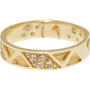 14K Eternity Band With Diamonds Italian