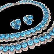 Reja Designer Necklace Bracelet Earrings Parure Vintage