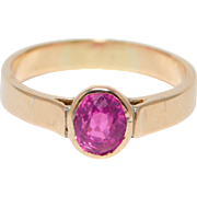 14K Rose Gold ½ Carat Pink Tourmaline Estate Ring