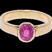 14K Rose Gold ½ Carat Pink Tourmaline Estate Ring