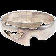 Unusual Sigi Pineda Taxco Silver Mexican Modernist Bracelet