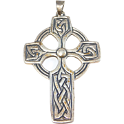 Ornate Celtic Sterling James Avery Cross Signed