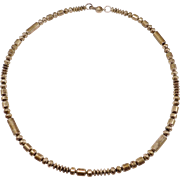 Navajo Sterling Silver Long Bench Beads Necklace