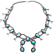Navajo Sterling And Turquoise Pawn Squash Blossom Gorgeous