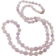 Long Strand Amethyst Carved Chinese Beads Antique Gorgeous