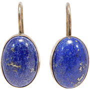 Estate Leverback Lapis Vermeil Earrings Beautiful