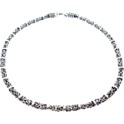 Heavy Ornate Link Sterling Chain Hard To Find Design