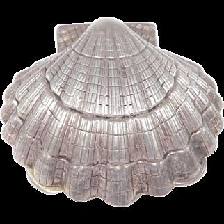 Sterling Silver Seashell Pill Box Estate Fine Piece