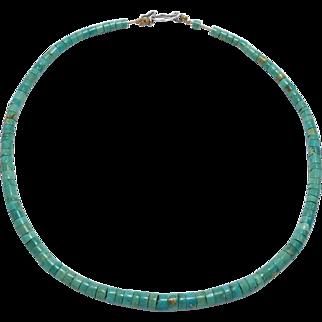 Royston Turquoise Heishi Beads Necklace
