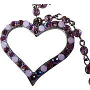 DIOR Open Heart Lined With Pink Sapphire-Colored Glass Beads