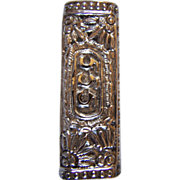 800  Silver Reticulated Repousse Butane Lighter Case ~ Vintage