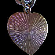 Vintage Sterling Silver Heart Charm & Flat Double Link LISNER Charm Bracelet