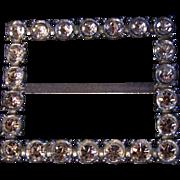 PAULINE TRIGERE ~ Rhinestone/Crystal Sash Buckle ~ Vintage Glamour