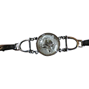 Reverse Carved Intaglio Rock Crystal FOX Bracelet With Equestrian Horse Design With Stirrups, Bit & Straps With Buckles ~ Another Gorgeous Lampl Creation